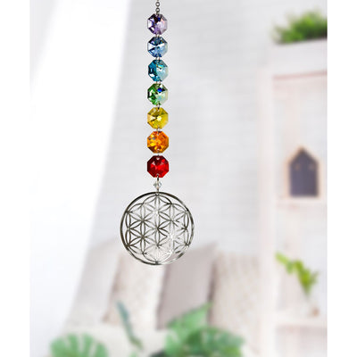 Crystal Radiance Cascade Suncatcher - Flower of Life - Hipimi