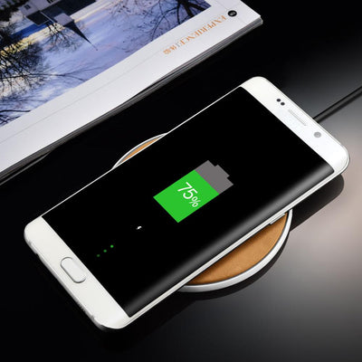 Leather Wireless Fast Charger for iPhone & Samsung - Hipimi