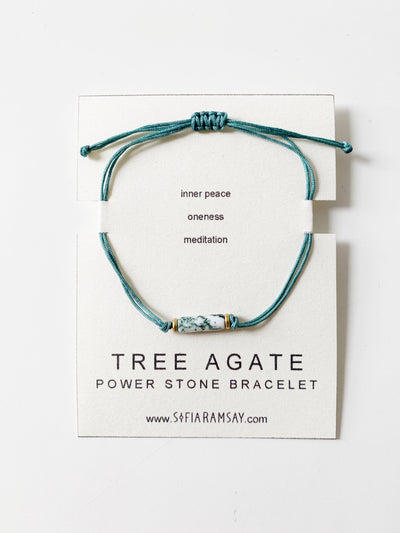 Tree Agate Power Stone Bracelet - Hipimi
