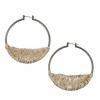 Antique Silver Hoops with Metallic Thread - Hipimi