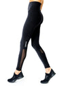 Energique Athletic Leggings With Reflective Strips and Mesh Panels - Hipimi