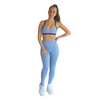 Prema Seamless High Rise Yoga leggings - Powder Blue - Hipimi