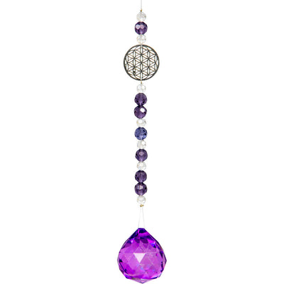 Flower of Life Suncatcher with Glass Beads - Hipimi