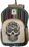 SUGAR SKULL HEMP BACKPACK - Hipimi