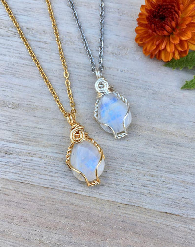 Moonstone Gemstone Necklace - Hipimi