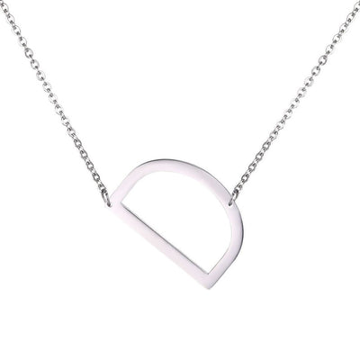 stainless steel letter pendant necklace A inital necklaces A to Z Beautiful Ladies choker 26 - Hipimi