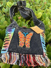 BUTTERFLY DREAMS Cotton Boho CROSSBODY BAG - Hipimi