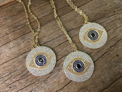 LUCKY Turkish Evil eye Pendant Necklace For Women - Hipimi
