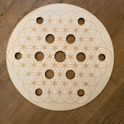 Flower of Life Dotted Sphere Holder Crystal Grid - Hipimi