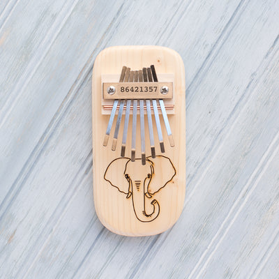 Elephant Engraved Thumb Piano - Hipimi