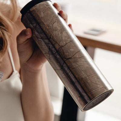 Los Angeles - California Map Tumbler - Hipimi