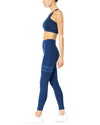 Ashton Set - Sports Bra & Leggings - Navy Blue - Hipimi