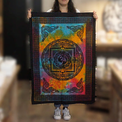 Sacred Om Cotton Wall Tapestry - Hipimi