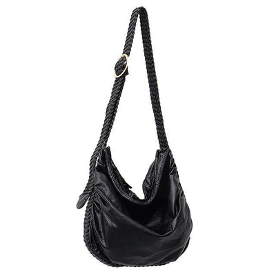 Braided Vegan Leather Bag - Hipimi