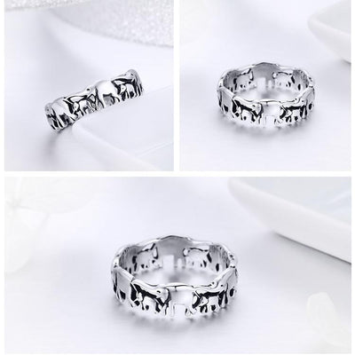 Lucky Elephant Ring in 925 SS - Hipimi