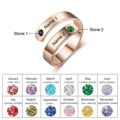 Personalized Birthstone Rings - Hipimi