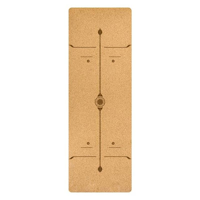 7 Chakra Cork Yoga Mat TPE (No Color Design) - Hipimi