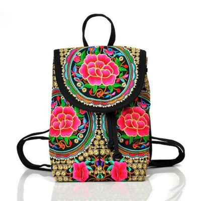 Lila Embroidery Backpack - Hipimi