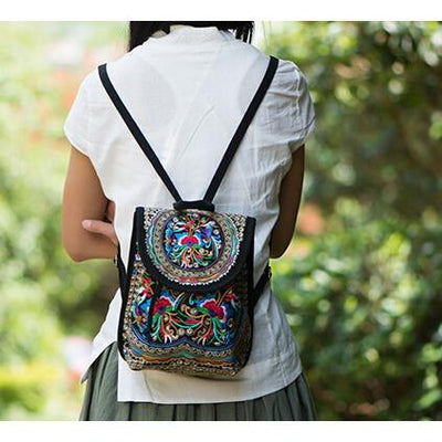 Lila Embroidery Backpack