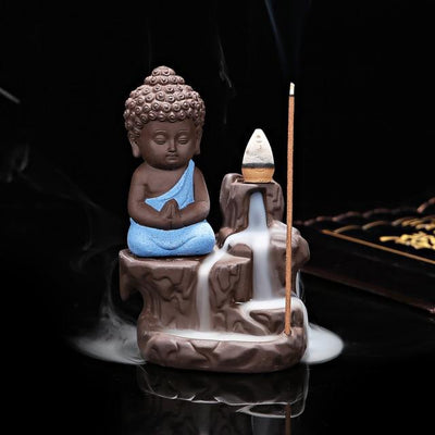 Mini Buddha Ceramic Incense Fountain - Hipimi