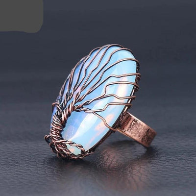 Tree of Life Oval Ring - Hipimi