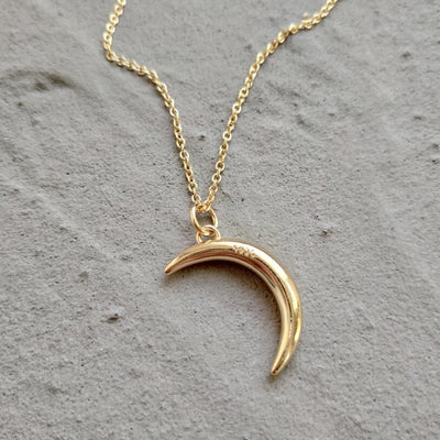Moon Necklace 14K Gold Plated - Hipimi