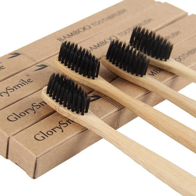 4 Pack Eco-friendly Bamboo Toothbrush - Hipimi