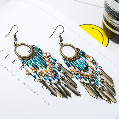 Vintage Fringe Drop Earrings - Hipimi