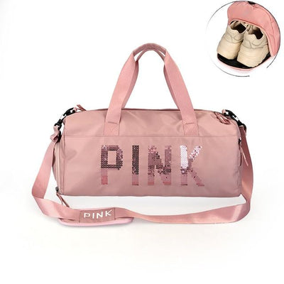 Pink Sequins Duffel Bag - Hipimi