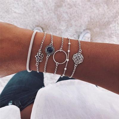 Lotus Bracelet 6 pc Set - Hipimi