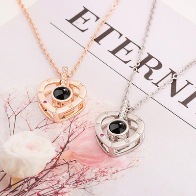 The  Love Projection Pendant Necklace in 100 Languages - Hipimi