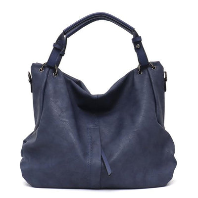 Vegan Leather Slouchy Tote - Hipimi