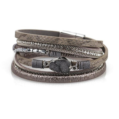 Vintage Multiple Layer Leather Bracelet - Hipimi