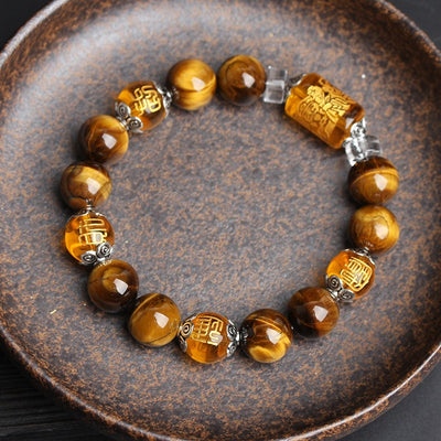 Good Fortune Tiger Eyes Stone Beads - Hipimi