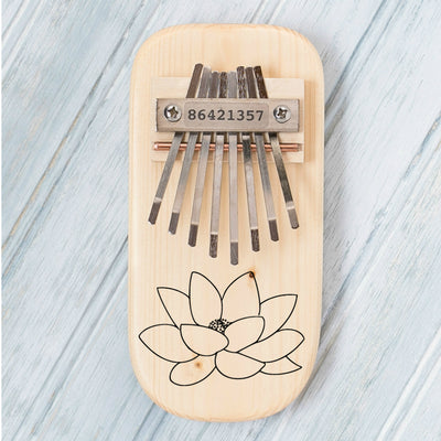 Lotus Flower Engraved Thumb Piano - Hipimi