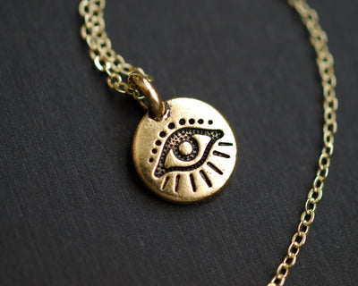 Tiny Evil Eye Necklace - Hipimi