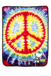 Woodstock Fleece Throw Blanket Peace Sign 50x60 - Hipimi
