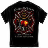 Firefighter Desire to Serve T-Shirt