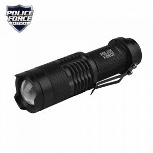 Police Force mini tactical flashlight with Slidezoom
