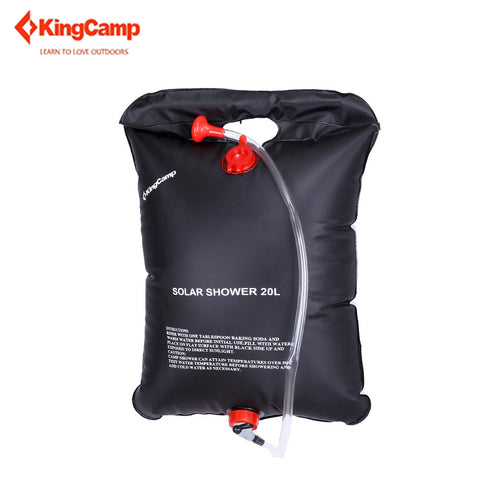 KingCamp 20L Camping Portable Ultra-light Solar Shower Bag with ON/OFF Switch Outdoor Accessories for Hiking Trekking Water Bag
