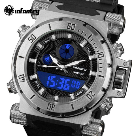INFANTRY Luxury Brand Men's Analog Quartz Tactical Watch