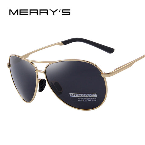 MERRY'S Top quality Sunglasses Men Polarized Brand Designer 2016 Fashion aviator Driving Sunglasses
