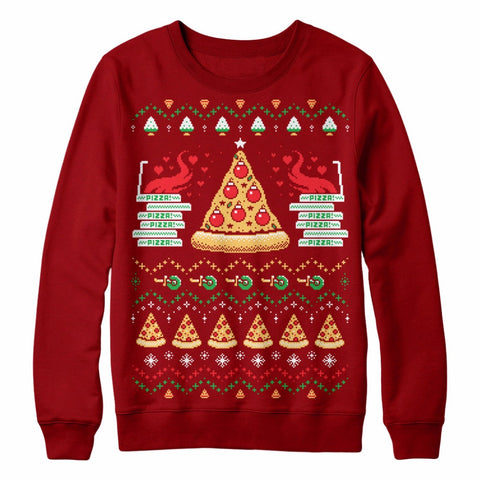 Holiday Pizza Sweatshirt. Comes in plus size.