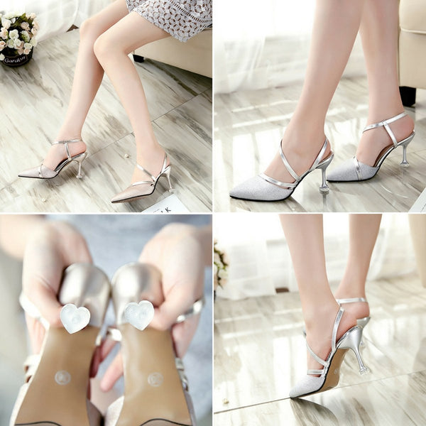 Belle Fashion Slingback Thin Heels