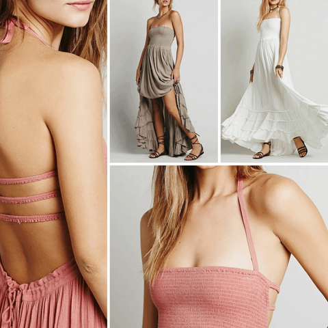 Casual Backless Ruffled Maxi Dress - Belle Closet