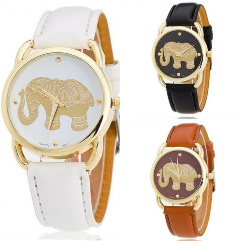 Golden Elephant Women Quartz Watch - Belle Closet