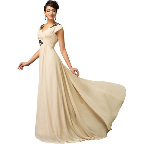 Formal Ruched Bodice Evening Dress - Belle Closet