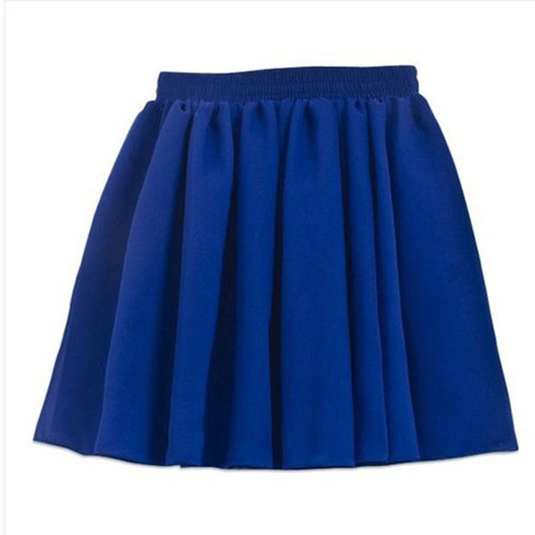 Chiffon Mini Pleated Skirt - Belle Closet