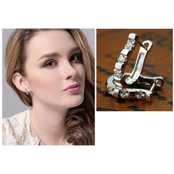 Novel Silver Hoop Earrings - Belle Closet