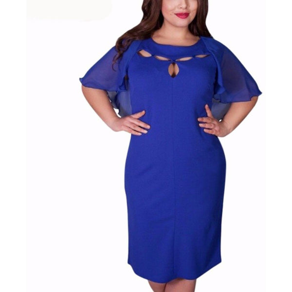 Plus Size Elegant Novelty Dress - Belle Closet